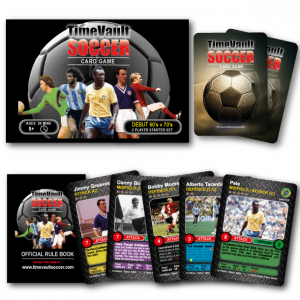 Time Vault Soccer tabletop football card game Debut 60s vs 70s product shot