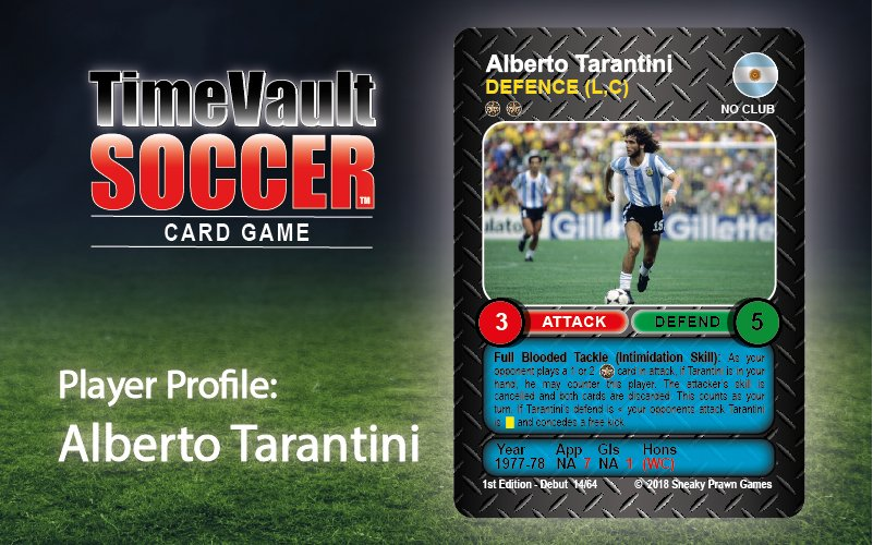Alberto Tarantini Best Soccer Card Game