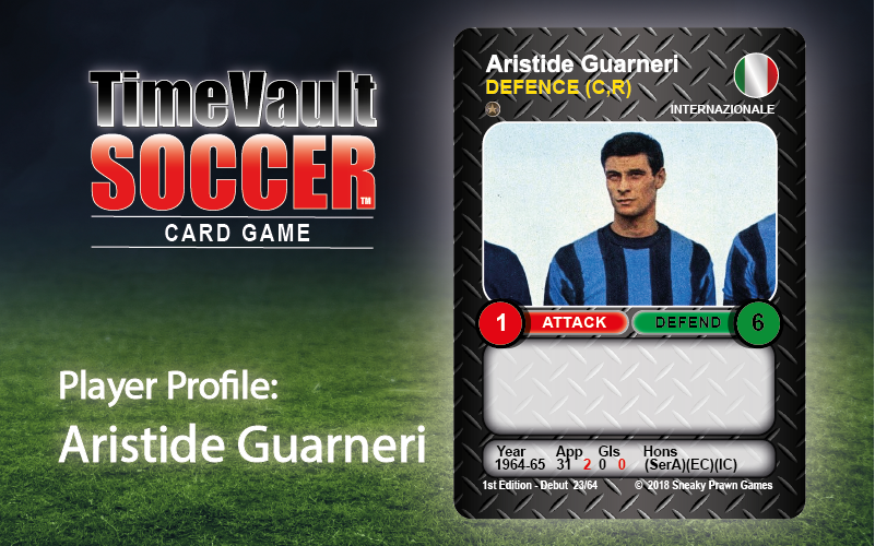 Aristide Guarneri Time Vault Soccer tabletop football card game