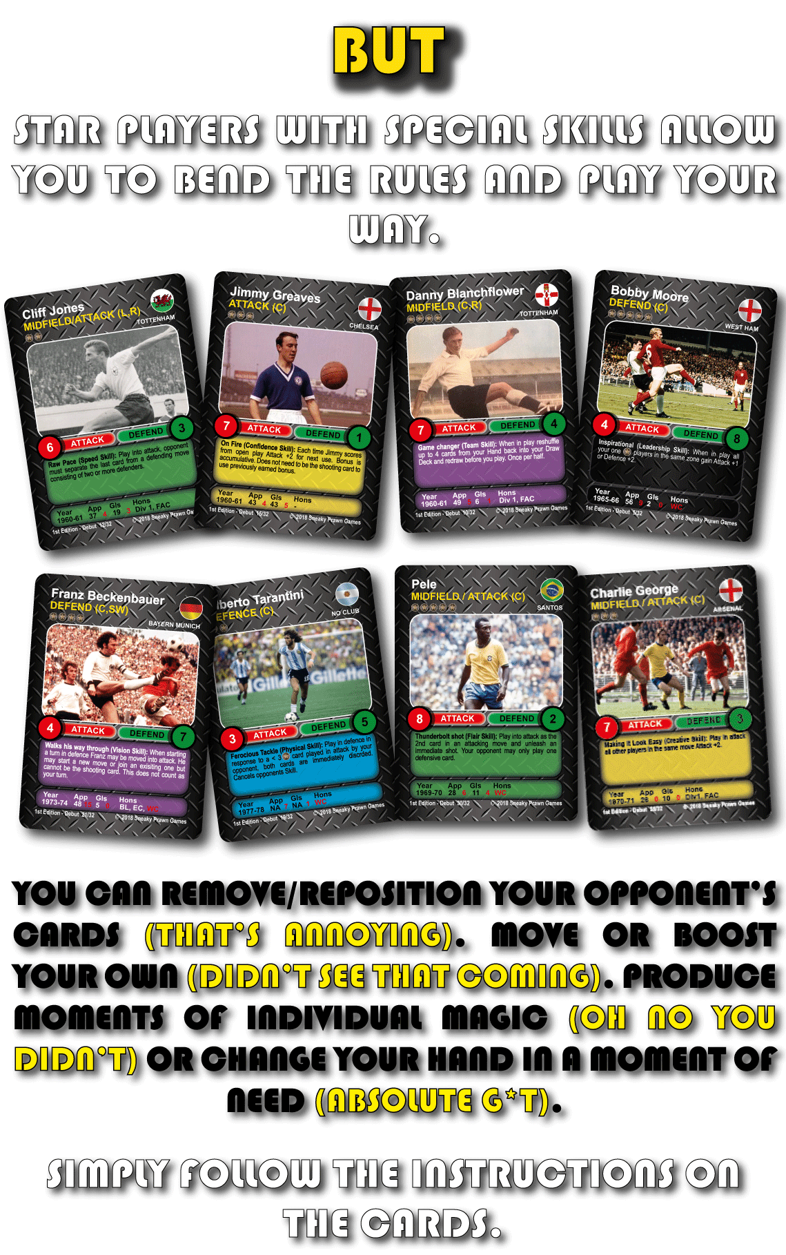 Star Players Time Vault Soccer tabletop card game