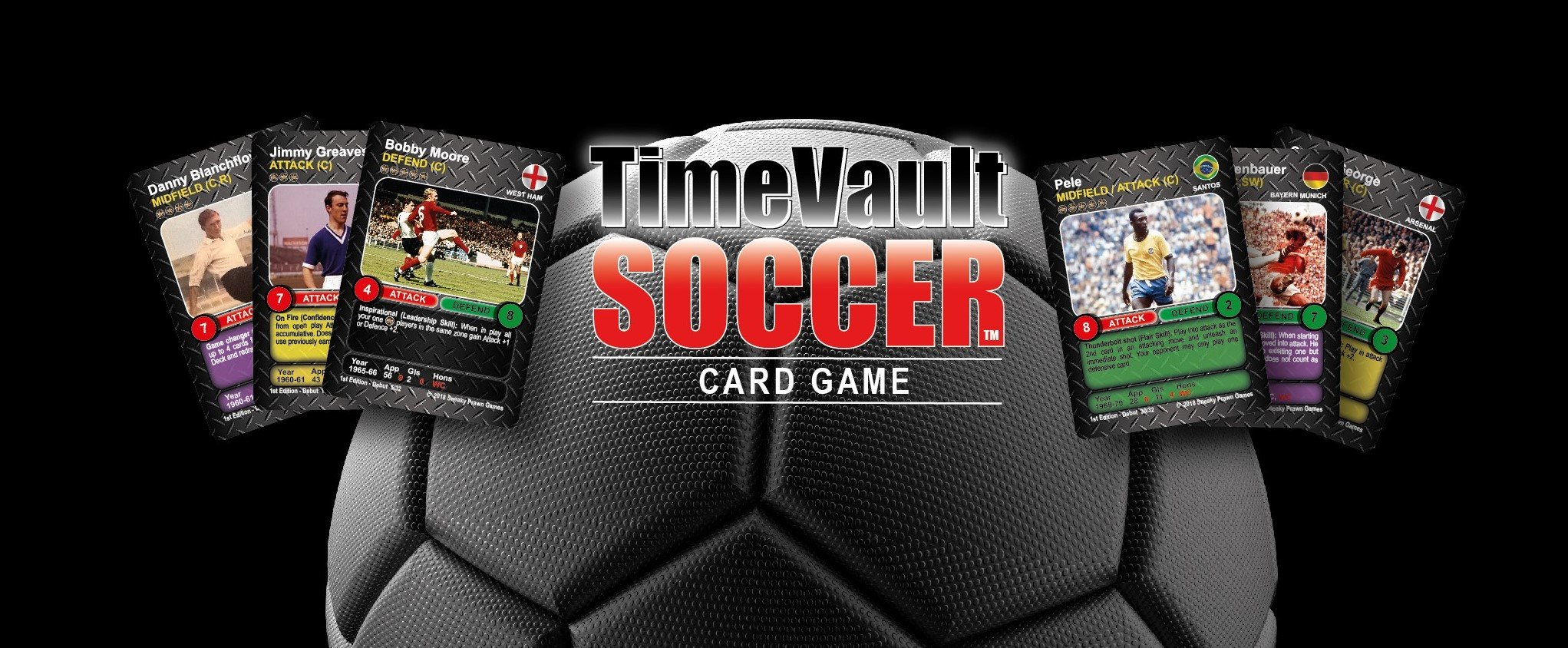 Time Vault Soccer strategy card game banner