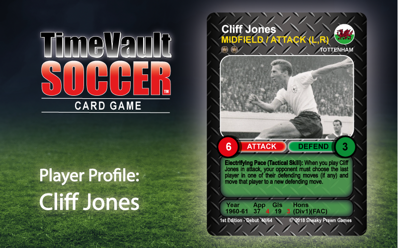 Cliff Jones Time Vault Soccer tabletop football card game