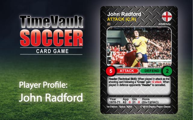 John Radford Time Vault Soccer tabletop football card game
