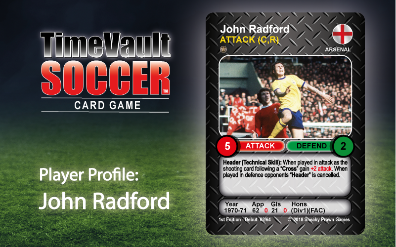 John Radford Time Vault Soccer tabletop football card game