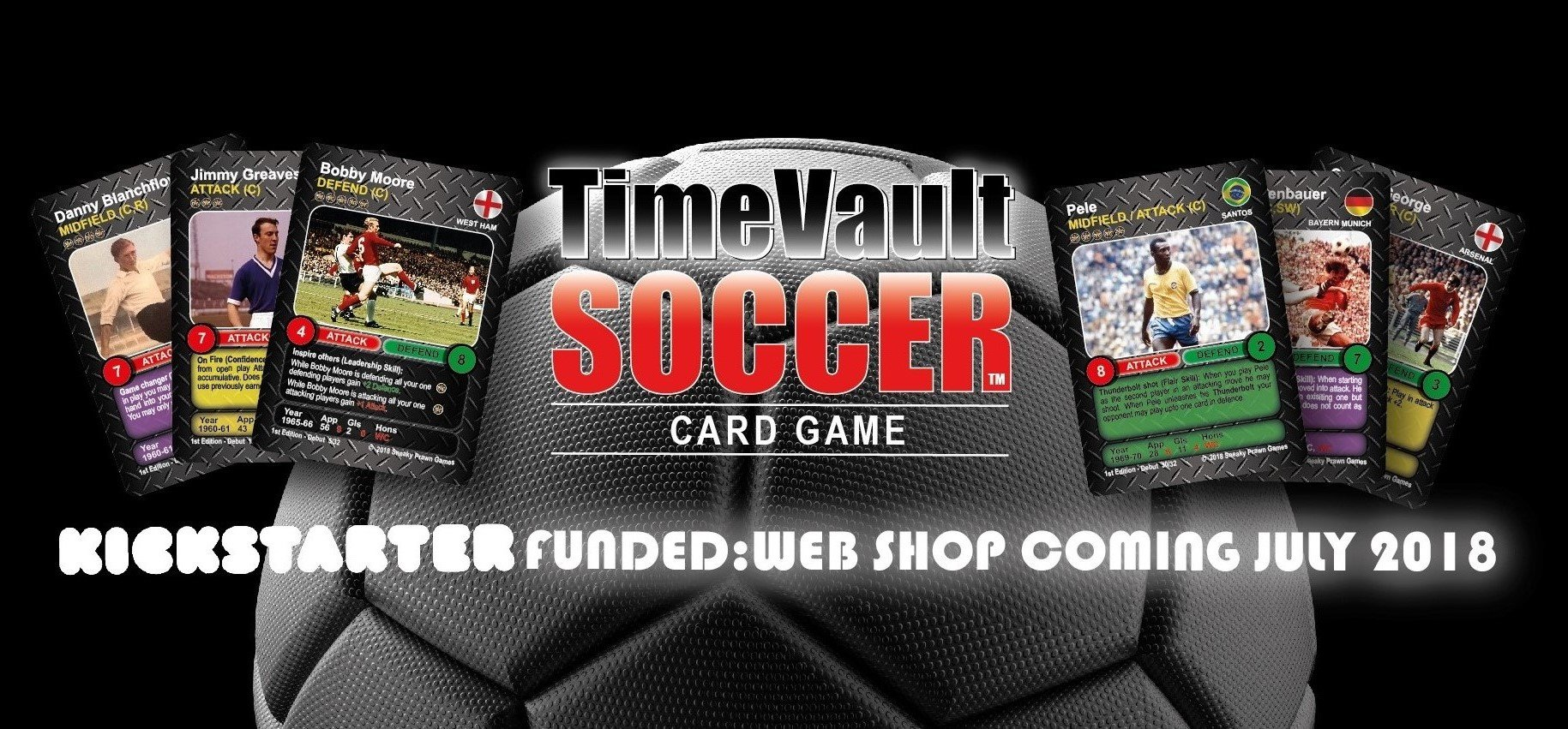 Time Vault Soccer tabletop card game web shop coming