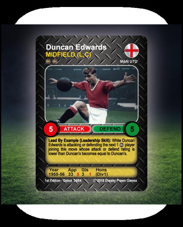 Time Vault Soccer tabletop football game Duncan Edwards 34.64
