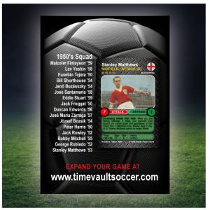 Time Vault Soccer Debut Box 50's Back