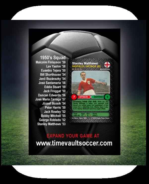 Time Vault Soccer Debut Box 50's Back