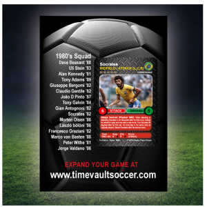 Time Vault Soccer Debut Box 80's Back
