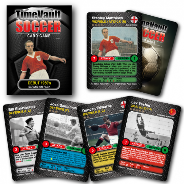 Time Vault Soccer tabletop football card game 50s expansion