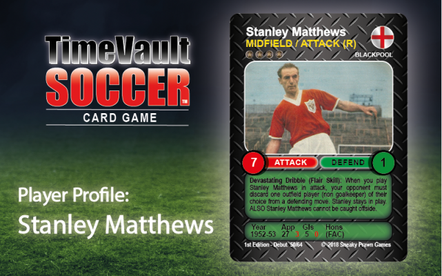 Stanley Matthews Time Vault Soccer card game