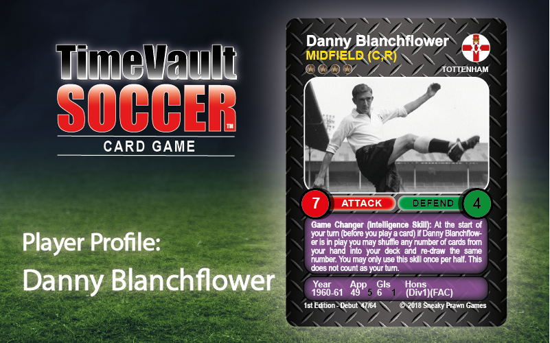 Danny Blanchflower Time Vault Soccer football card game 3